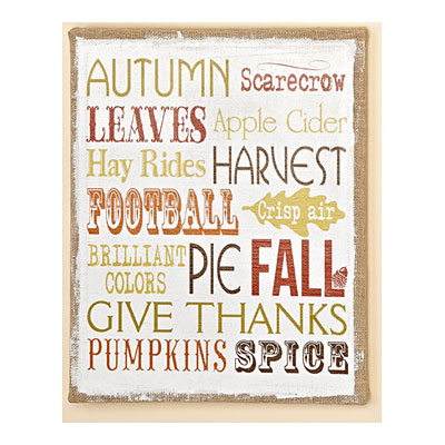 Fall Theme Sign