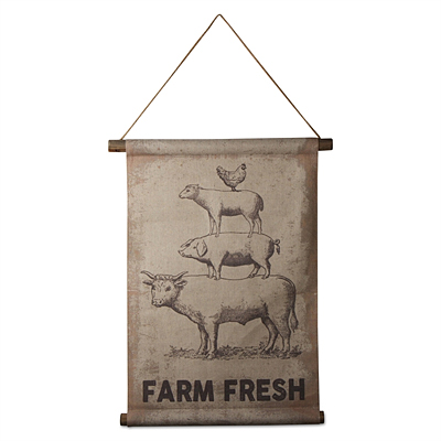 Farm Fresh Scroll Hanger