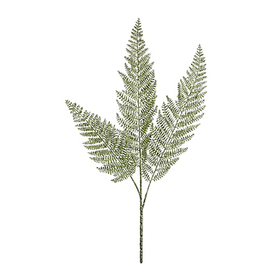 Spray - Lace Fern Glittered Green