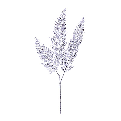 Spray - Lace Fern Glittered Silver
