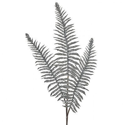 Spray - Sequin Vein Glitter Fern X3 - Silver