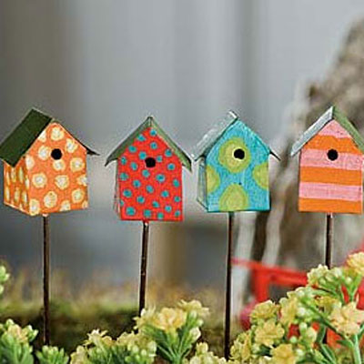 Mini Fiesta Birdhouse Picks