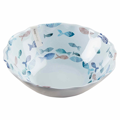 Fish Melamine Serving Bowl, Blue