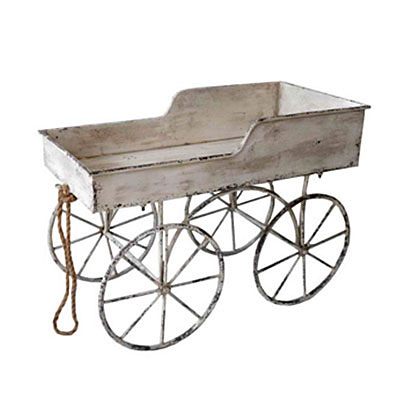 Flower Cart - Vintage Metal Cream