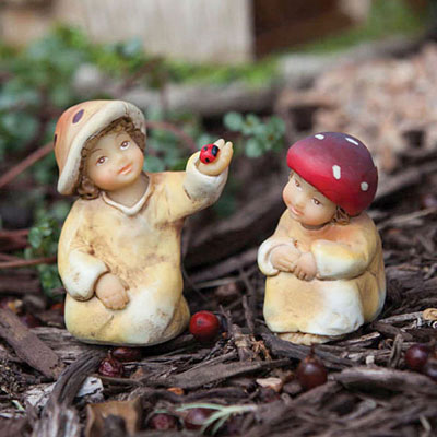 Mini Garden Forest Boy & Girl Statues