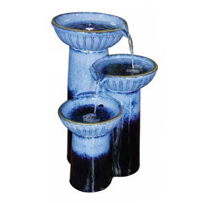 Fountain - 3 Tier Pedestal (Cascade Blue)