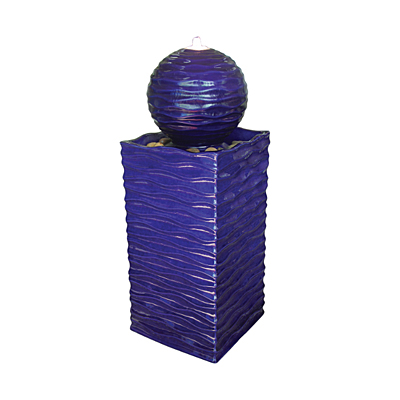 Fountain - Square Wave with Ball Cobalt & Pump