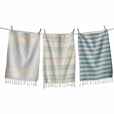 Village Fringed Towel - Set of 3