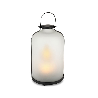 Lantern - Frosted Fire Glow Jar LED