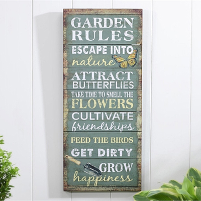 Wall Plaque D�cor, Garden Rules