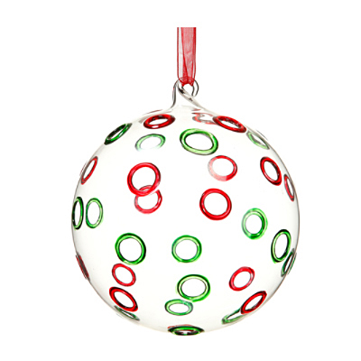 Ornament - Glass Ball Red/Green
