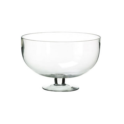 Glass Bowl - Footed Clear
