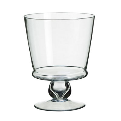 Glass Vase - Footed Clear