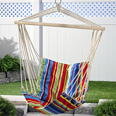 Fabric Multi Stripe Hammock Swing