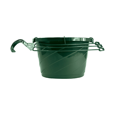 Akro-Mils Euro Hanging Basket with Saucer - Green