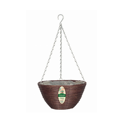 Hanging Basket - Rattan Brown
