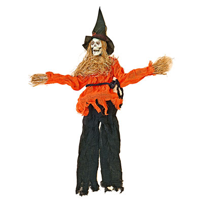 Hanging Scarecrow with Orange Cloth