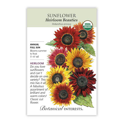 Seeds - BI Sunflowers Heirloom Beauties Org