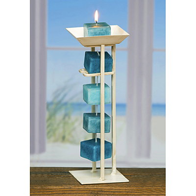 Candle Tower Holder - Antique White