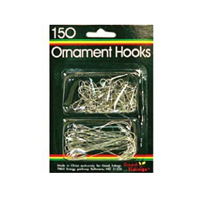 Ornament Hooks Combo Pak - Silver, 150 count