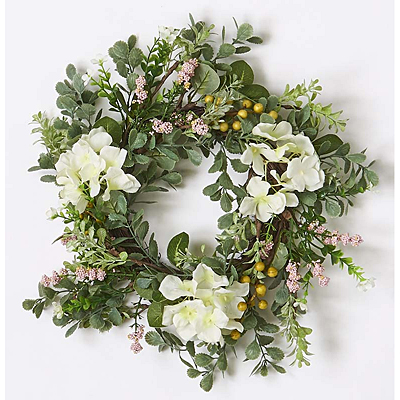 Wreath - Hydrangea with Berries & Leaves