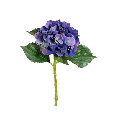 Single Hydrangea Spray - Blue Helio