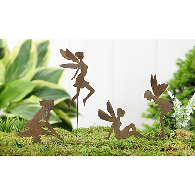 Mini World Iron Fairy Design Garden Pick
