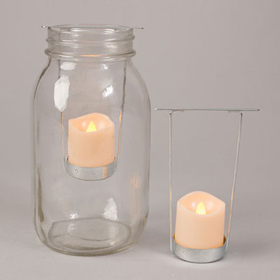 LED Tea Light Jar Insert (Set of 2)