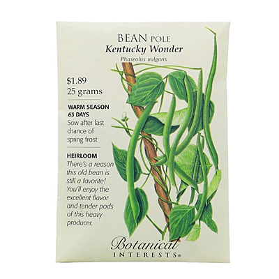 Seeds - BI Bean Pole Kentucky Wonder