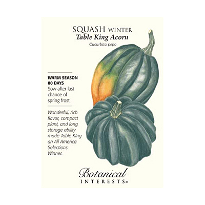 Seeds - BI Squash Winter Table King Acorn