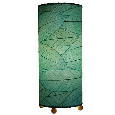 Table Lamp - Eangee Cylinder Cocoa Leaf Sea Blue