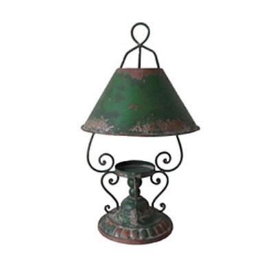 Lantern - Retro Lamp Candle Holder - Antique Green