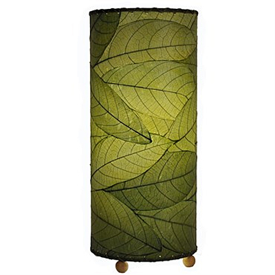 Table Lamp - Eangee Cylinder Cocoa Leaf Green