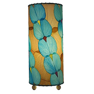 Table Lamp - Eangee Cylinder Butterfly Sea Blue