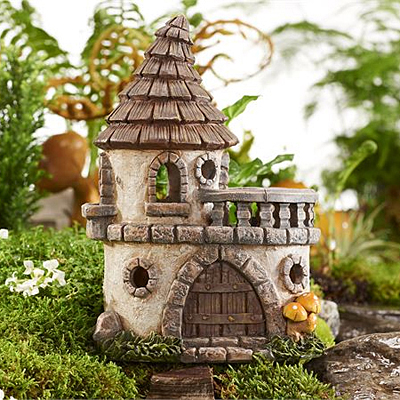 Mini World Solar Lighted Castle Figurine
