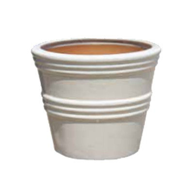 Auckland Lined Planter - White
