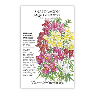 Seeds - BI Snapdragon Magic Carpet Blend
