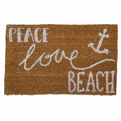 Coir Mat - Peace Love Beach