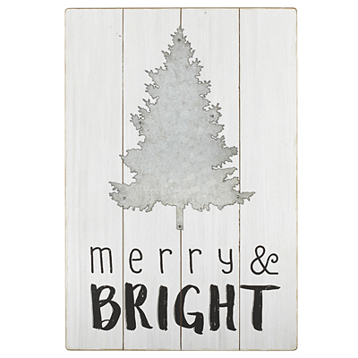 Sign - 'Merry and Bright