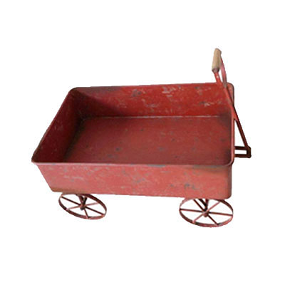Wagon - Retro Red Metal
