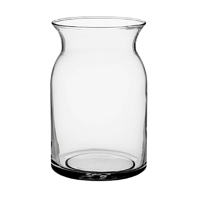 Vase - Milk Jug, Clear Glass