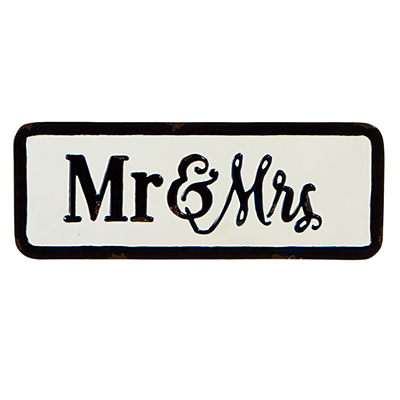 Sign - Mr & Mrs Enamel
