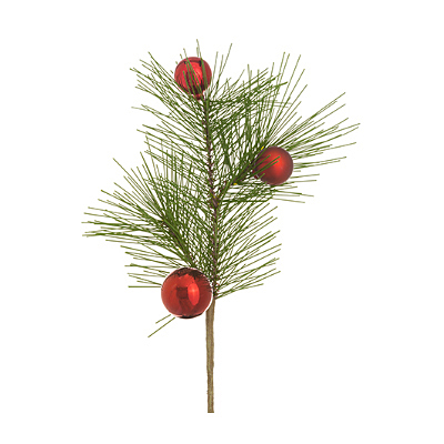 Pick - Long Needle Pine with Red Balls