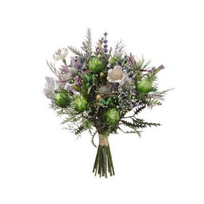Nigella / Protea Pod Bouquet Purple