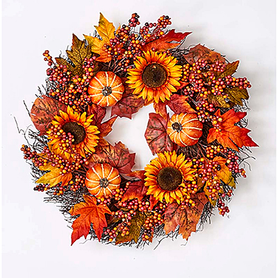 Oak Leaf Berry Wreath