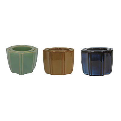 Octagon Self Watering Pot - Assorted
