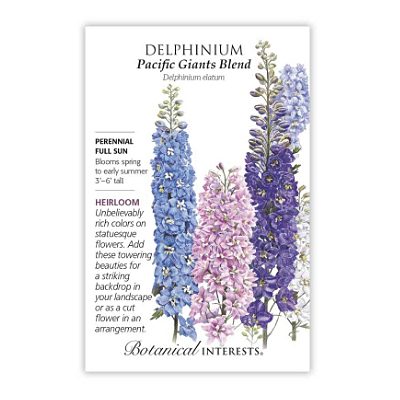Seeds - BI Delphinium Pacific Giant Blend