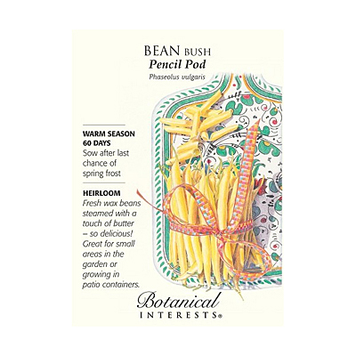 Seeds - BI Bean Bush Pencil Pod Yellow