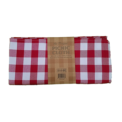 Picnic Cloth - Red Gingham Fabric