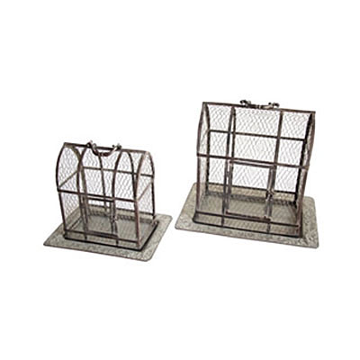 Plant Cage - Antique Galvanized